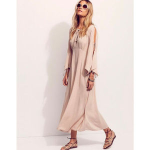 Free People Prettiest Thing Midi Dress Blush NWOT